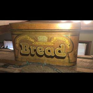Vintage bread box tin